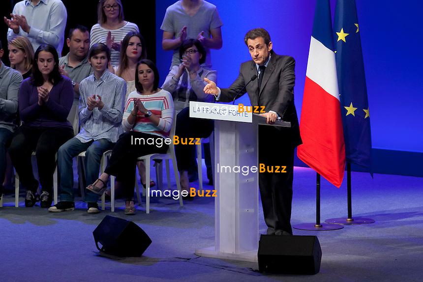 TOULON 03 MAI 2012: Meeting of the French president Nicolas Sarkozy in Toulon a few days before the presidential elections..Meeting de Nicolas Sarkozy à Toulon quelques jours avant les élections présidentielles 2012