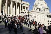 The Freshmen Representatives-elect pose for a group photo on the United States House steps of the U.S. Capitol in Washington, D.C. on Friday, November 19, 2010..Credit: CNP