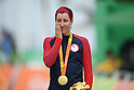 Jamie Whitmore (USA), <br /> SEPTEMBER 16, 2016 - Cycling - Road : <br /> Women's Road Race C1-2-3 Medal Ceremony <br /> at Pontal <br /> during the Rio 2016 Paralympic Games in Rio de Janeiro, Brazil.<br /> (Photo by AFLO SPORT)