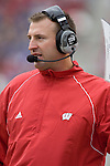 MADISON, WI - SEPTEMBER 9: Head coach Bret Bielema of the Wisconsin Badgers watches his team against the Western Illinois Leathernecks at Camp Randall Stadium on September 9, 2006 in Madison, Wisconsin. The Badgers beat the Leathernecks 34-10. (Photo by David Stluka)