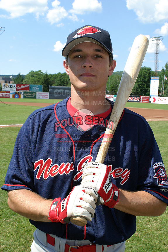 July 13, 2003:  Chris Tuttle of the New Jersey Cardinals during a game at Russell Diethrick Park in Jamestown, New York.  Photo by:  Mike Janes/Four Seam Images