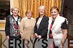 Etta Duke, Bridie McSweeney, Kay Stack, Joan O'Shaughnessy enjoying the Sliabh Luachra Active Retirement Dinner Dance at Ballygarry House on Sunday