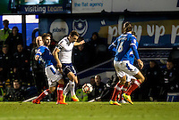 Matthew Bloomfield of Wycombe Wanderers during the FA Cup 1st round match between Portsmouth and Wycombe Wanderers at Fratton Park, Portsmouth, England on the 5th November 2016. Photo by Liam McAvoy.