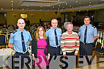 Rural Crime Prevention : Speaking at the Sin Fein organised meeting on rural crime prevention held at the Listowel arms Hotel on Monday night last were Sgt. Tim O'Keeffe, Cllr. Diane Nolan,  Supertindent William Leahy, Listowel, Gerry Duggan, community Alert &  Sgt. Jim Foley, Crime Prevention Officer.