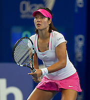 LI NA (CHN) against ANABEL MEDINA GARRIGUES (ESP) in the group stage of the Hopman Cup. China beat Spain 6-3 6-1 ..03/01/2012, 3rd January 2012, 03.01.2012..The HOPMAN CUP, Burswood Dome, Perth, Western Australia, Australia.@AMN IMAGES, Frey, Advantage Media Network, 30, Cleveland Street, London, W1T 4JD .Tel - +44 208 947 0100..email - mfrey@advantagemedianet.com..www.amnimages.photoshelter.com.