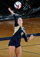 Florida International University women's volleyball player Jessica Egan (6) plays against Florida Gulf Coast University.  FIU won the match 3-0 on November 8, 2011 at Miami, Florida. .