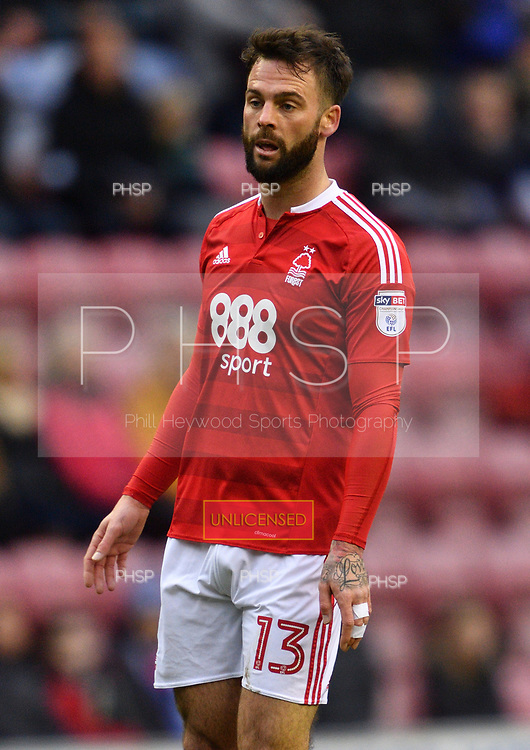 25/02/2017 Sky Bet Championship Wigan Athletic v Nottingham Forest<br /> <br /> Daniel Fox, Nottingham Forest FC