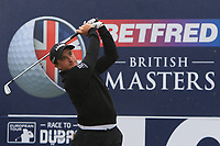 Paul Dunne (IRL) on the 10th tee during the Pro-Am of the Betfred British Masters 2019 at Hillside Golf Club, Southport, Lancashire, England. 08/05/19<br /> <br /> Picture: Thos Caffrey / Golffile<br /> <br /> All photos usage must carry mandatory copyright credit (© Golffile | Thos Caffrey)