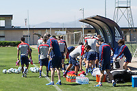 Santiago, Chile - Sunday, January 25, 2015: USMNT Training in Vitacura.