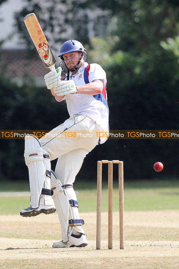 L Porter in batting action for Hornchurch Athletic - Hornchurch Athletic CC vs Rainham CC - Mid-Essex Cricket League at Hylands Park - 13/07/13 - MANDATORY CREDIT: Gavin Ellis/TGSPHOTO - Self billing applies where appropriate - 0845 094 6026 - contact@tgsphoto.co.uk - NO UNPAID USE