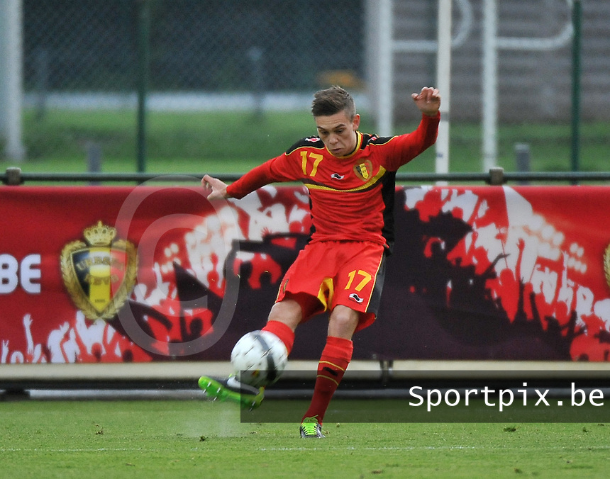 Scotland U19 - Belgium U19 : Leandro Trossard.foto DAVID CATRY / Nikonpro.be