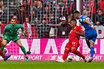 05.10.2019, Allianz Arena, Muenchen, GER, 1.FBL,  FC Bayern Muenchen vs. TSG 1899 Hoffenheim, DFL regulations prohibit any use of photographs as image sequences and/or quasi-video, im Bild Sargis Adamyan (Hoffenheim #23) ueberwindet Jerome Boateng (FCB #17) und Manuel Neuer (FCB #1) und macht das Tor zum 0-1 <br /> <br />  Foto © nordphoto / Straubmeier