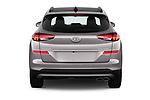Straight rear view of a 2019 Hyundai Tucson Shine 5 Door SUV stock images
