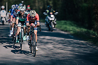 Vincenzo Nibali (ITA/Bahrain-Merida) leading the race in the last local lap<br /> <br /> 82nd Fl&egrave;che Wallonne 2018 (1.UWT)<br /> 1 Day Race: Seraing - Huy (198km)
