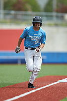 Shaun O'Keeffe (20) of Donovan Catholic High School in Toms River, NJ hustles towards home plate during the Atlantic Coast Prospect Showcase hosted by Perfect Game at Truist Point on August 23, 2020 in High Point, NC. (Brian Westerholt/Four Seam Images)