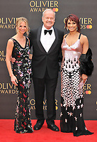 Kayte Walsh, Kelsey Grammer and Danielle de Niese at the Olivier Awards 2019, Royal Albert Hall, Kensington Gore, London, England, UK, on Sunday 07th April 2019.<br /> CAP/CAN<br /> ©CAN/Capital Pictures