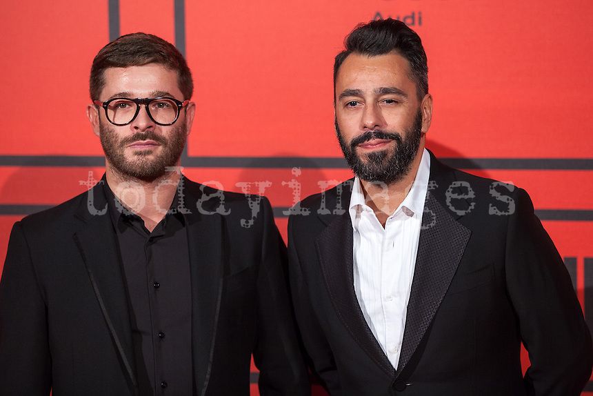 Jeff Bargues and Juanjo Oliva during the photocall of Vanity Fair 5th Anniversary party In Madrid
