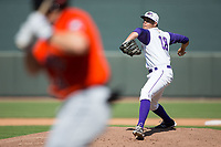 Winston-Salem Dash relief pitcher Yelmison Peralta (28) in action against the Buies Creek Astros at BB&T Ballpark on April 16, 2017 in Winston-Salem, North Carolina.  The Dash defeated the Astros 6-2.  (Brian Westerholt/Four Seam Images)