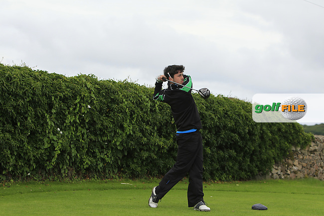 Aaron Bagnall (Millicent) on the 5th tee during Round 3 of the 2016 Connacht U18 Boys Open, played at Galway Golf Club, Galway, Galway, Ireland. 07/07/2016. <br /> Picture: Thos Caffrey | Golffile<br /> <br /> All photos usage must carry mandatory copyright credit   (&copy; Golffile | Thos Caffrey)