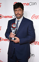 "LAS VEGAS, NV - APRIL 26: Recipient of the ""Male Star of the Year"", Benicio del Toro attends the CinemaCon Big Screen Achievement Awards at CinemaCon 2018 at The Colosseum at Caesars Palace on April 26, 2018 in Las Vegas, Nevada. (Photo by Frank Micelotta/PictureGroup)"