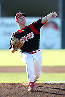 Batavia Muckdogs pitcher Jonathan Cornelius #26 delivers a pitch during a game against the Mahoning Valley Scrappers at Dwyer Stadium on July 4, 2011 in Batavia, New York.  Batavia defeated Mahoning Valley 3-2.  (Mike Janes/Four Seam Images)