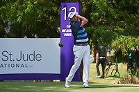 Marc Leishman (AUS) watches his tee shot on 12 during round 4 of the WGC FedEx St. Jude Invitational, TPC Southwind, Memphis, Tennessee, USA. 7/28/2019.<br /> Picture Ken Murray / Golffile.ie<br /> <br /> All photo usage must carry mandatory copyright credit (© Golffile | Ken Murray)