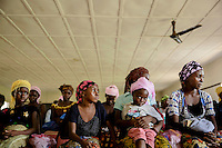 People at the government run Hasting Treatment Centre where they are celebrating the survival of 60 of their patients who have recovered from ebola and are now free to return to their communities.