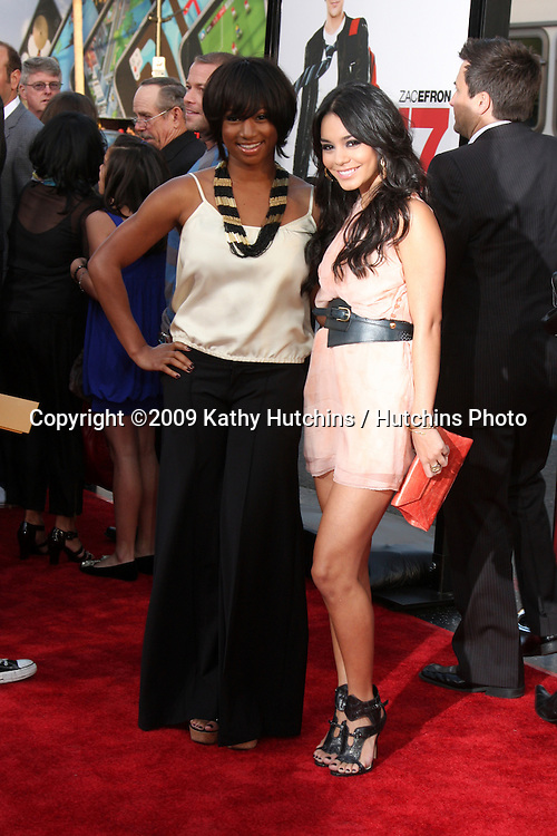 Monique Coleman & Vanessa Hudgens  arriving at the 17 Again Premiere at Grauman's Chinese Theater in Los Angeles, CA on April 14, 2009.©2009 Kathy Hutchins / Hutchins Photo....                .