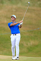 Ricardo Gouveia (POR) on the 13th fairway during Round 3 of the Dubai Duty Free Irish Open at Ballyliffin Golf Club, Donegal on Saturday 7th July 2018.<br /> Picture:  Thos Caffrey / Golffile