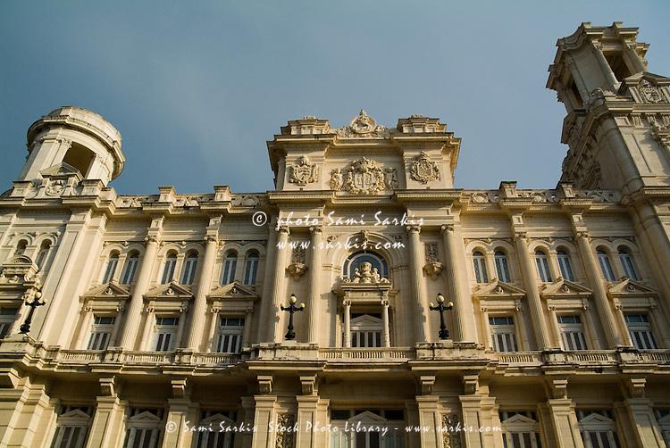 Facade of the National Museum of Fine Arts of Havana, Cuba.