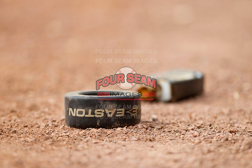 A batting doughnut and pine tar outside the home dugout at Minute Maid Park on March 4, 2011 in Houston, Texas.  Photo by Brian Westerholt / Four Seam Images