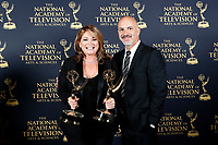 PASADENA - May 5: Valerie Bertinelli and Tom Vitale in the press room at the 46th Daytime Emmy Awards Gala at the Pasadena Civic Center on May 5, 2019 in Pasadena, California