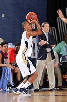25 February 2012:  FIU guard DeJuan Wright (14) shoots in the first half as the FIU Golden Panthers defeated the University of South Alabama Jaguars, 81-74, at the U.S. Century Bank Arena in Miami, Florida.