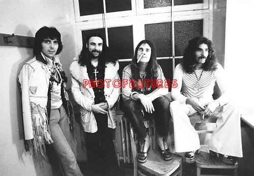 Black Sabbath 1973  Tony Iommi, Bill Ward, Ozzy Osbourne and Geezer Butler.© Chris Walter.
