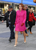 NEW YORK, NY- February 14: Ginger Zee reports the weather on Good Morning America in New York City on February 14, 2020. Credit: RW/MediaPunch