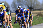 The peloton including Philippe Gilbert (BEL) Deceuninck-Quick Step descend off Paterberg during the 2019 E3 Harelbeke Binck Bank Classic 2019 running 203.9km from Harelbeke to Harelbeke, Belgium. 29th March 2019.<br /> Picture: Eoin Clarke | Cyclefile<br /> <br /> All photos usage must carry mandatory copyright credit (© Cyclefile | Eoin Clarke)