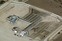 aerial photograph cattle corral at feedlot Nebraska