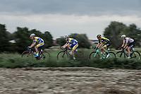 Preben Van Hecke (BEL/Sport Vlaanderen Baloise) leading the chase in the peloton. <br /> <br /> <br /> 103th Kampioenschap van Vlaanderen 2018 (UCI 1.1)<br /> Koolskamp &ndash; Koolskamp (186km)