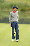 Rhys Davies sees his birdie putt slip past the hole on the 12th during the first round of the ISPS Handa Wales Open 2013 at the Celtic Manor Resort<br /> <br /> 29.08.13<br /> <br /> ©Steve Pope-Sportingwales