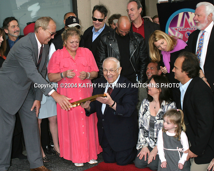 ©2004 KATHY HUTCHINS / HUTCHINS PHOTO.HOLLYWOOD WALK OF FAME STAR FOR.JOHN BELUSHI.HOLLYWOOD, CA  .APRIL 1, 2004..JIM BELUSHI WITH FAMILY AND FRIENDS.