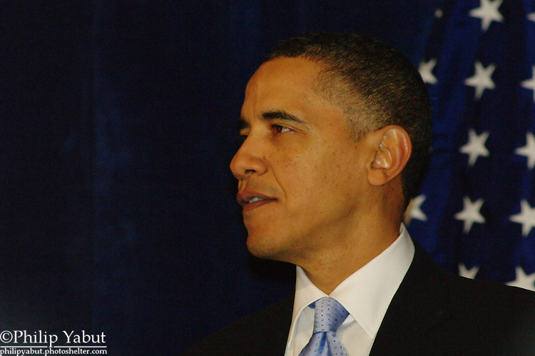 President Barack Obama addresses supporters at the DNC Winter Meetings on February 4, 2010.