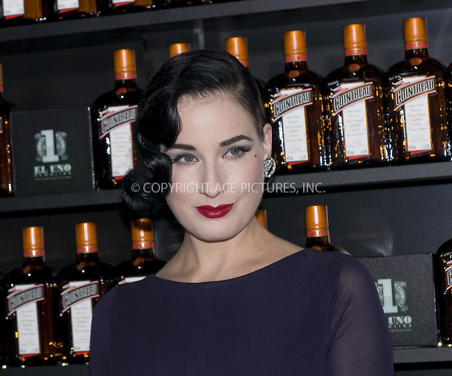 WWW.ACEPIXS.COM . . . . .  ..... . . . . US SALES ONLY . . . . .....October 6 2011, Madrid....Dita Von Teese presents the 'Cointreau Minibar' at the Uno Lounge bar on October 6, 2011 in Madrid....Please byline: FD/ACE Pictures, Inc.... . . . .  ....Ace Pictures, Inc:  ..Tel: (212) 243-8787..e-mail: info@acepixs.com..web: http://www.acepixs.com