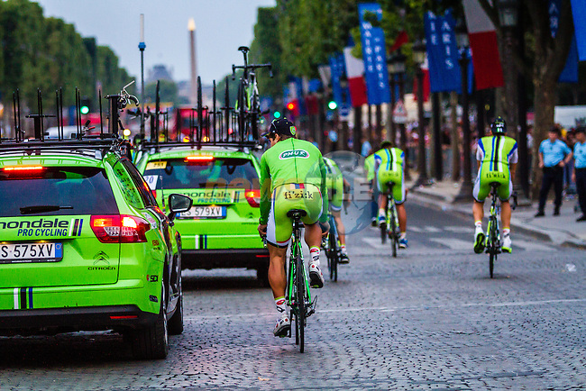 Peter Sagan (ITA) of Cannondale at rider parade on the Champs-Élysées, Tour de France, Stage 21: Évry > Paris Champs-Élysées, UCI WorldTour, 2.UWT, Paris Champs-Élysées, France, 27th July 2014, Photo by Thomas van Bracht