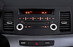 Stereo audio system close up detail view of a 2012 Mitsubishi Lancer SE