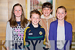 Pictured Eve Coffey, Cathal Higgins, Emma Goulding and Ellen Coffey pictured at the Kerry Cork Cancer Link bus quiz in the Killarney Avenue Hotel on Friday night.