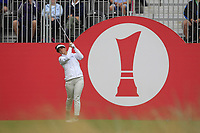 Emma Talley (USA) on the 1st tee during Round 3 of the Ricoh Women's British Open at Royal Lytham &amp; St. Annes on Saturday 4th August 2018.<br /> Picture:  Thos Caffrey / Golffile<br /> <br /> All photo usage must carry mandatory copyright credit (&copy; Golffile | Thos Caffrey)