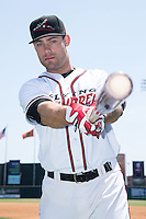 Mac Williamson (7) of the Richmond Flying Squirrels poses for a photo prior to the game against the Bowie Baysox at The Diamond on May 24, 2015 in Richmond, Virginia.  The Flying Squirrels defeated the Baysox 5-2.  (Brian Westerholt/Four Seam Images)