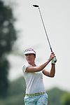 CHON BURI, THAILAND - FEBRUARY 16:  Vicky Hurst of USA tees off on the 15th hole during day one of the LPGA Thailand at Siam Country Club on February 16, 2012 in Chon Buri, Thailand.  Photo by Victor Fraile / The Power of Sport Images