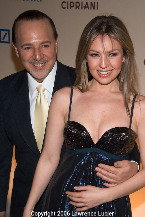 Tommy Mottola and Thalia Sodi