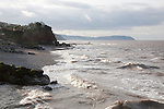 Erosional coastline with cliffs and headland, Watchet, Somerset, England